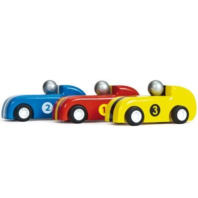 3 voitures de course à rétrofriction  par Le Toy Van