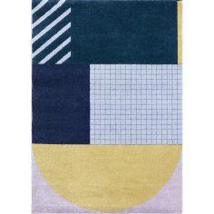 Tapis rectangulaire Art Deco (120 x 170 cm)