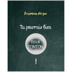Carte à gratter Annonce de grossesse Chalkboard Tonton (8 x 10 cm)