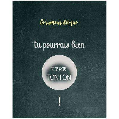 Carte à gratter Annonce de grossesse Chalkboard Tonton (8 x 10 cm)  par Les Boudeurs