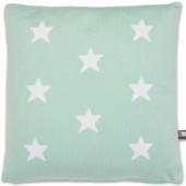 Coussin Star vert menthe et blanc (40 x 40 cm) - Baby's Only