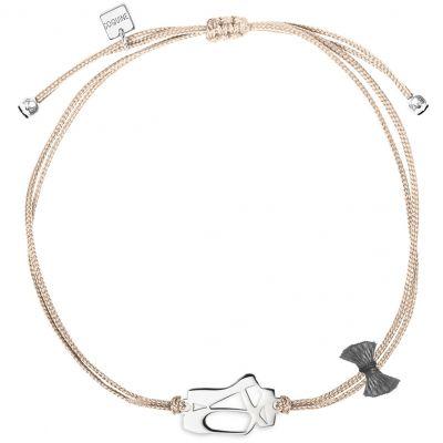 Bracelet cordon rose Mini Coquine ballerine (argent 925°)  par Coquine