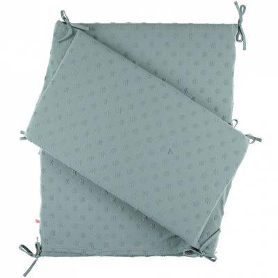 tour de lit vert d 39 eau mix et match pour lits 60 x 120 cm. Black Bedroom Furniture Sets. Home Design Ideas