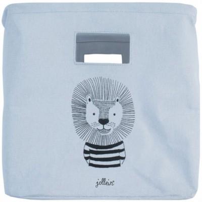 petit panier de rangement lion bleu par jollein. Black Bedroom Furniture Sets. Home Design Ideas