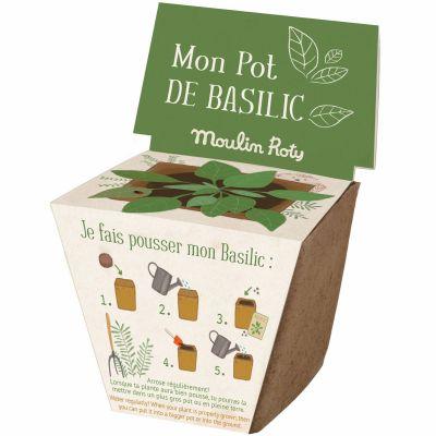 Pot de graines basilic Le Jardin du Moulin  par Moulin Roty