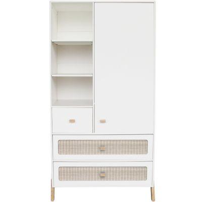 Armoire 1 porte + 3 tiroirs Marelia blanc neige  par Théo
