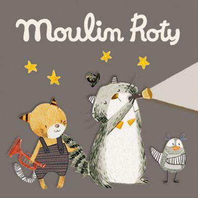 Lot de 3 disques pour lampe à histoires Les Moustaches  par Moulin Roty