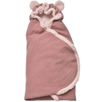 Couverture nomade Original Botanimal rose (120 x 120 cm)  par Lodger