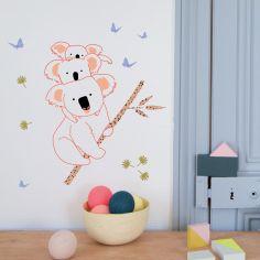 Sticker mural Koala Family (40 x 37 cm)