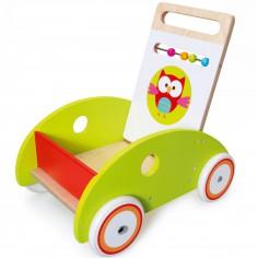 Chariot de marche voiture Lou le hibou