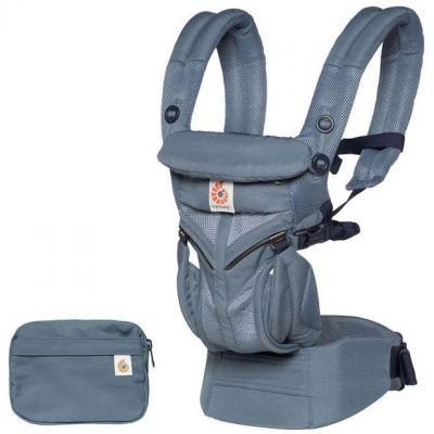 Porte bébé Omni 360 Cool Air Mesh bleu gris Ergobaby