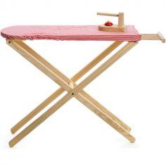 Planche et fer à repasser en bois
