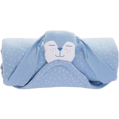 Couverture Ma couverture doudou chien bleu (80 x 80 cm) Minene