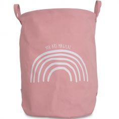 Sac à jouets Rainbow blush rose