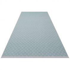 Tapis rectangulaire Checky vert d'eau (70 x 140 cm)