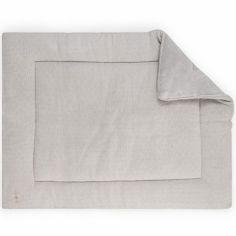 Tapis de parc en tricot doux gris (80 x 100 cm)