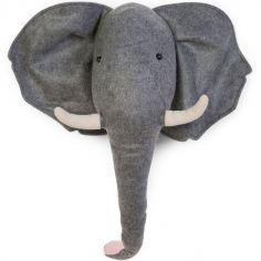 Trophée éléphant en feutre