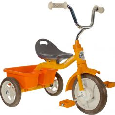 Tricycle Transporter avec panier arrière orange