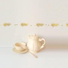 Frise murale palmes dorés