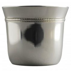 Coquetier Perles (métal argenté)