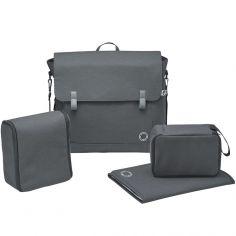 Sac à langer à bandoulière Modern Bag Graphite