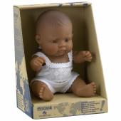 Poupée bébé garçon Latino-Américain (21 cm) - Miniland