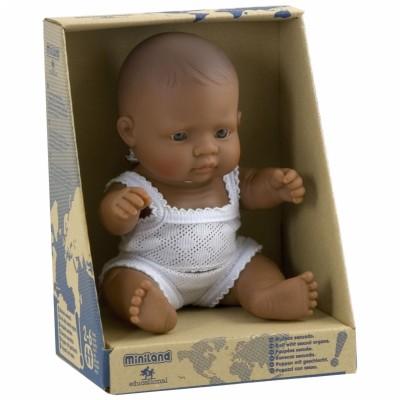 Poupée bébé garçon Latino-Américain (21 cm) Miniland