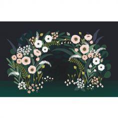 Fresque murale papier intissé Wonderland arche d'anémones (4 x 2,48 m)