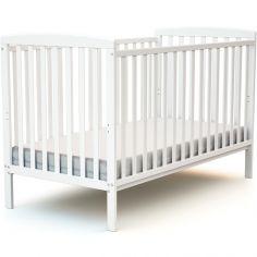 Lit à barreaux en bois de hêtre Confort blanc (70 x 140 cm)