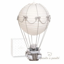 lampe montgolfi re toile de jouy pasito a pasito. Black Bedroom Furniture Sets. Home Design Ideas