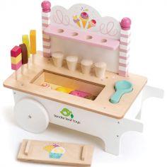 Chariot crème glacée en bois