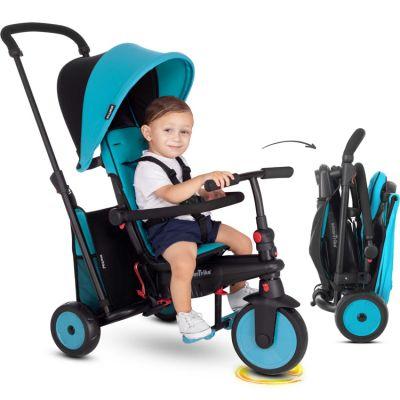 Poussette pliante évolutive en tricycle STR3 Trike bleue