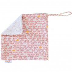 Doudou attache sucette Pebble Pink