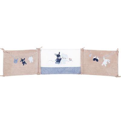 Tour de lit Alex et Bibou (pour lits 60 x 120 cm et 70 x 140 cm)  par Nattou