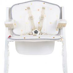 Coussin pour chaise haute Lambda Kitgrow jersey pois dorés