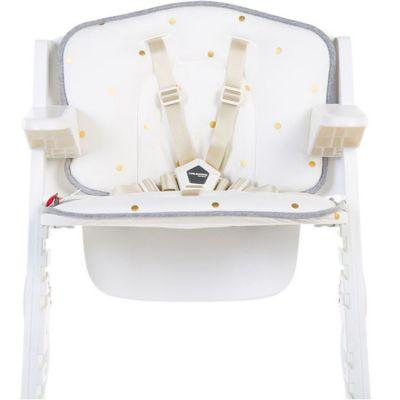 Coussin pour chaise haute Lambda Kitgrow jersey pois dorés  par Childhome