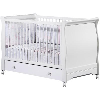 lit volutif elodie blanc little big bed et son tiroir 70 x 140 cm par sauthon signature. Black Bedroom Furniture Sets. Home Design Ideas