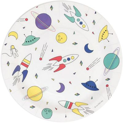 Lot de 8 assiettes en carton Cosmic