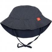 Chapeau anti-UV réversible Splash & Fun navy et polka (12 mois) - Lässig