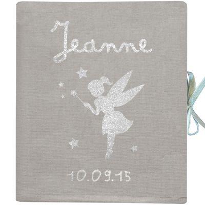 Album photo naissance personnalisable gris (126 pages)  par Les Griottes