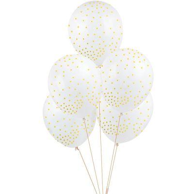 Ballons de baudruche étoiles dorées (5 pièces)