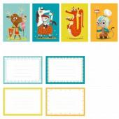 Pack de 8 cartes d'invitation au Château - Little big room by Djeco