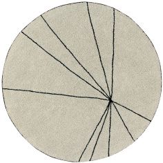 Tapis Trace beige (160 cm)