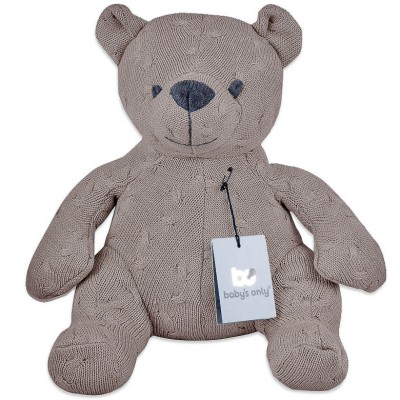 Peluche ourson Cable Uni taupe (35 cm) Baby's Only