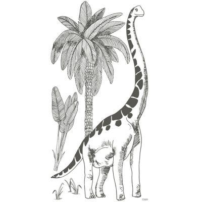 Grand sticker brontosaure et palmiers (130 x 64 cm)  par Lilipinso