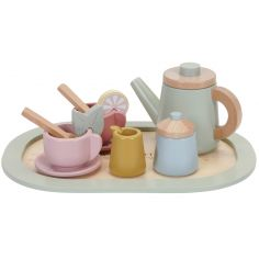 Dînette service à thé en bois