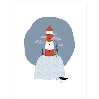 Affiche le phare (30 x 40 cm)  par Lilipinso