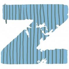 Lettre adhésive Z My ABC blue by Anne Cresci