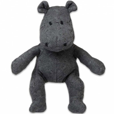 Peluche hippopotame Cable Uni gris anthracite (35 cm) Baby's Only