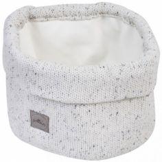 Panier de toilette en tricot Confetti naturel (32 x 15 cm)